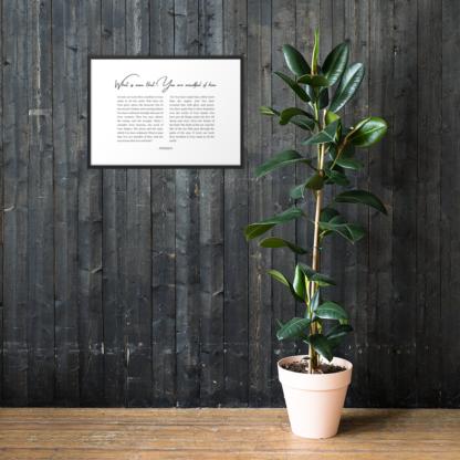 Psalm 8 enhanced-matte-paper-framed-poster-(cm)-black-50x70-cm-lifestyle-1-60301076d32ba