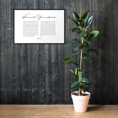 Psalm 8 enhanced-matte-paper-framed-poster-(cm)-black-61x91-cm-lifestyle-1-60301076d3323