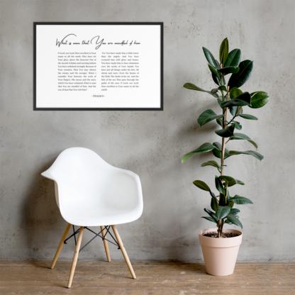 Psalm 8 enhanced-matte-paper-framed-poster-(cm)-black-61x91-cm-lifestyle-2-60301076d3366
