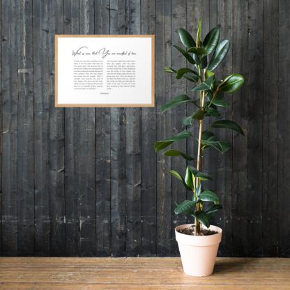 Psalm 8 enhanced-matte-paper-framed-poster-(cm)-oak-50x70-cm-lifestyle-1-60301076d345d