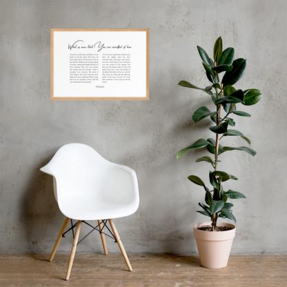 Psalm 8 enhanced-matte-paper-framed-poster-(cm)-oak-50x70-cm-lifestyle-2-60301076d3488