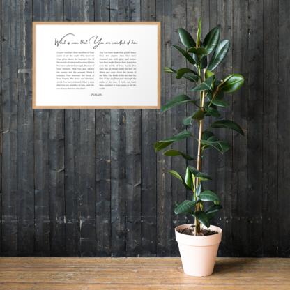 Psalm 8 enhanced-matte-paper-framed-poster-(cm)-oak-61x91-cm-lifestyle-1-60301076d34cc