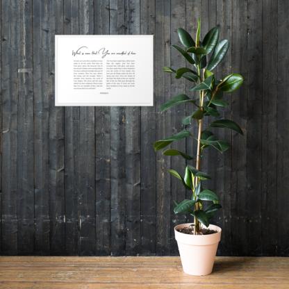 Psalm 8 enhanced-matte-paper-framed-poster-(cm)-white-50x70-cm-lifestyle-1-60301076d3601