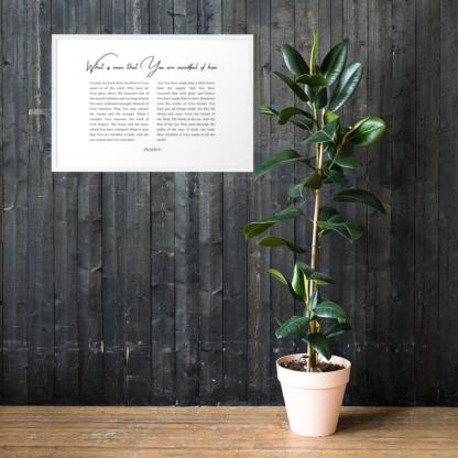 Psalm 8 enhanced-matte-paper-framed-poster-(cm)-white-61x91-cm-lifestyle-1-60301076d3667